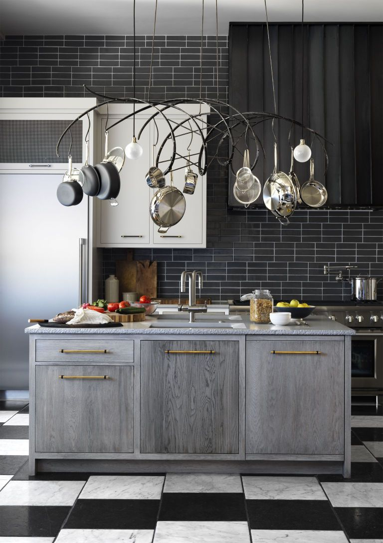 Black U0026 White Kitchen With Subway Tiles Dwellingdecor Part 65