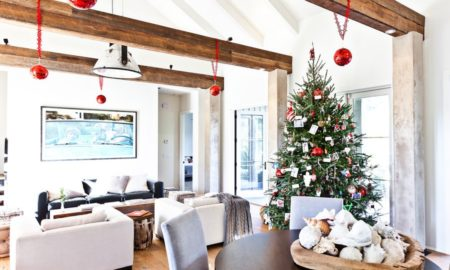 Contemporary Family Room Christmas Decoration Dwellingdecor