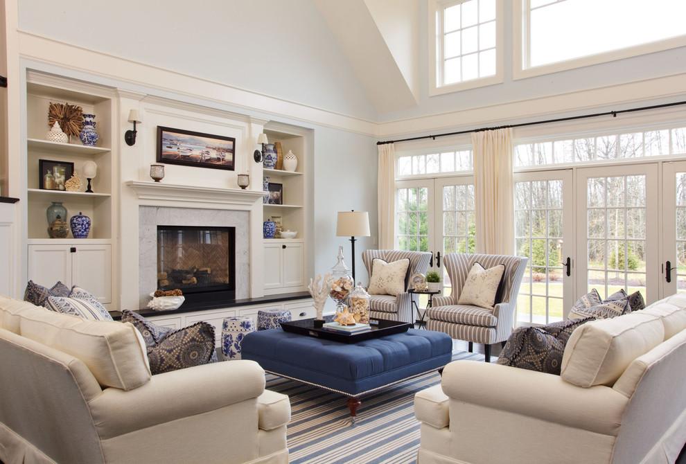 Large Beach Style Living Room Dwellingdecor