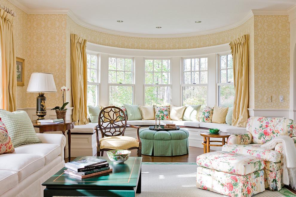 Large Victorian Living Room With Hardwood FLoor Dwellingdecor