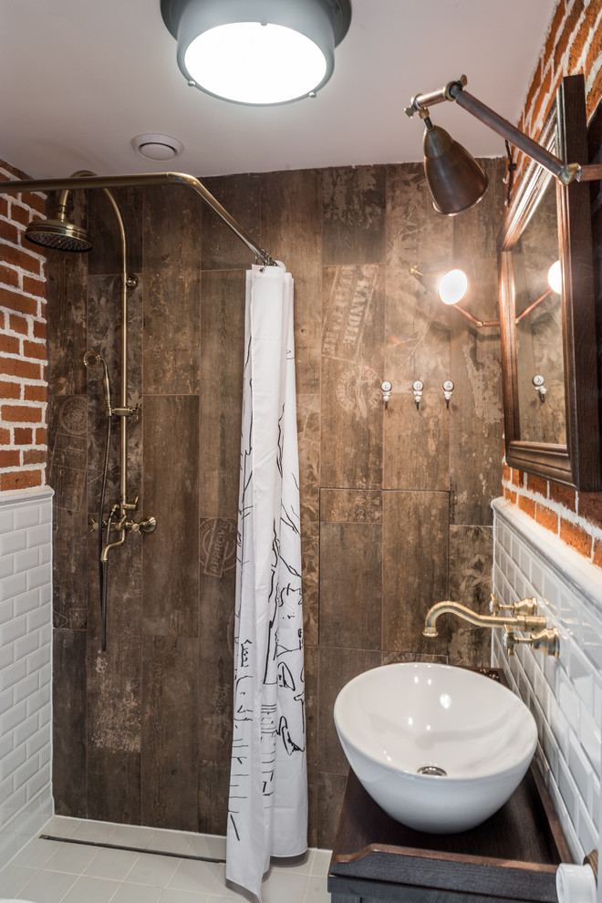 Loft Style Small Industrial Bathroom
