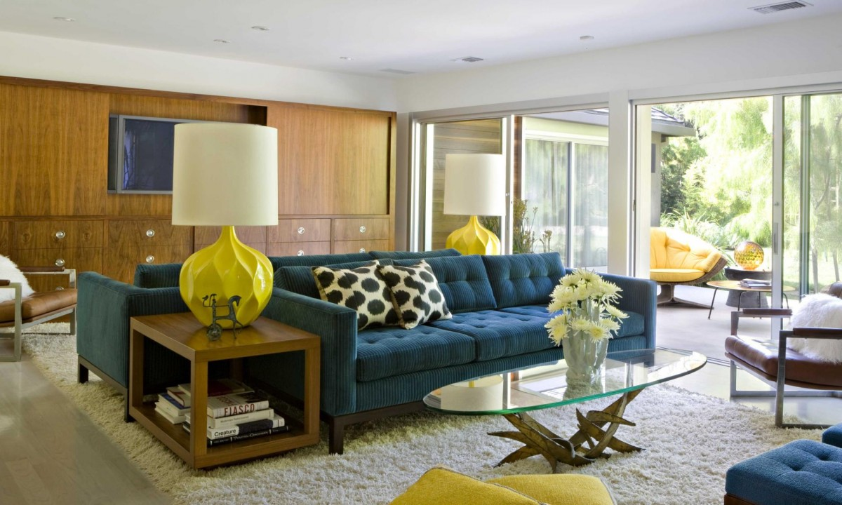 Midcentury Modern Large Living Room Dwellingdecor
