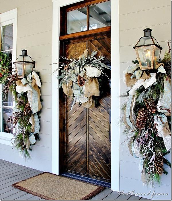 Outdoor Front Door Christmas Decoration Dwellingdecor
