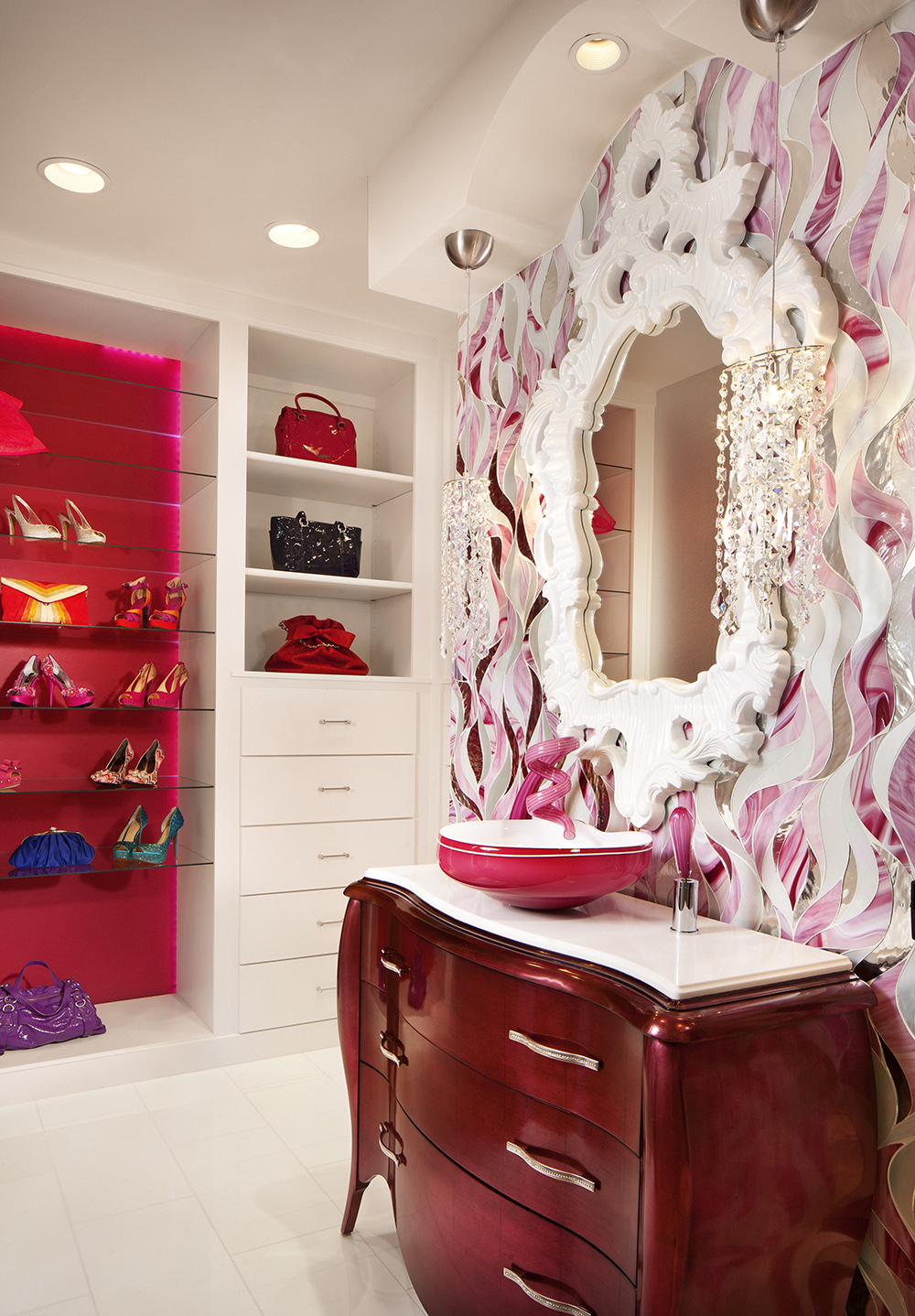 Pink Bathroom Design Idea For Girl