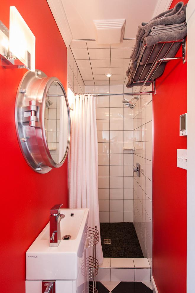 Small Beach Style Bathroom Design