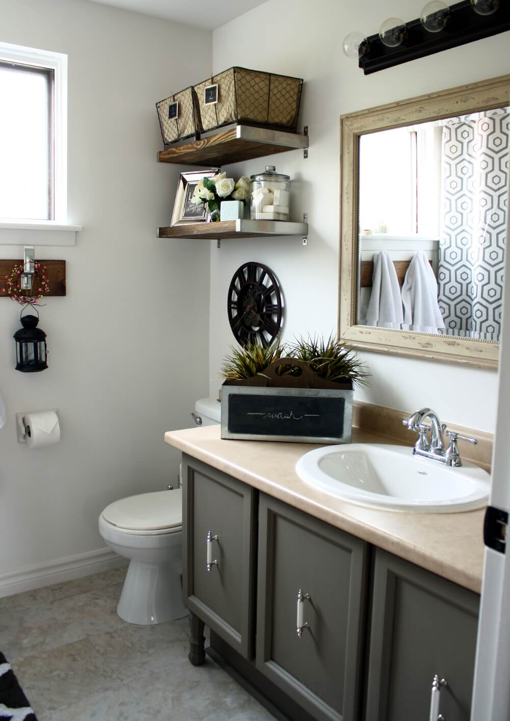 Small Industrial Chic Bathroom