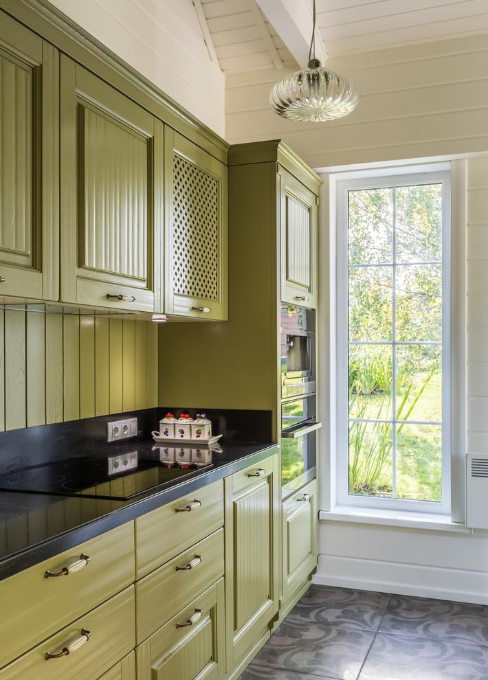 Small Traditional Single-wall Kitchen Dwellingdecor