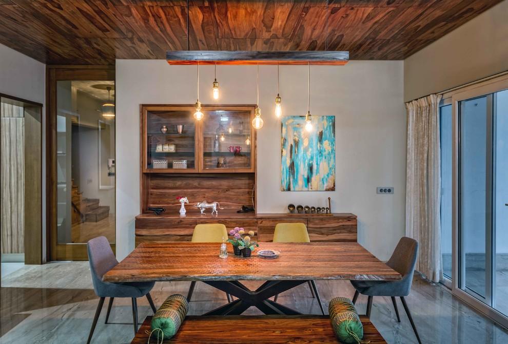 Transitional Dining Room Dwellingdecor