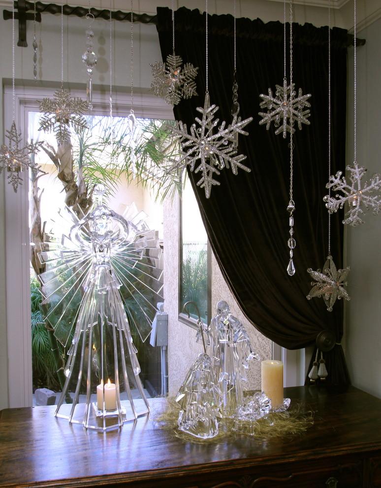 Transitional Dining Room Glass Decoration Dwellingdecor