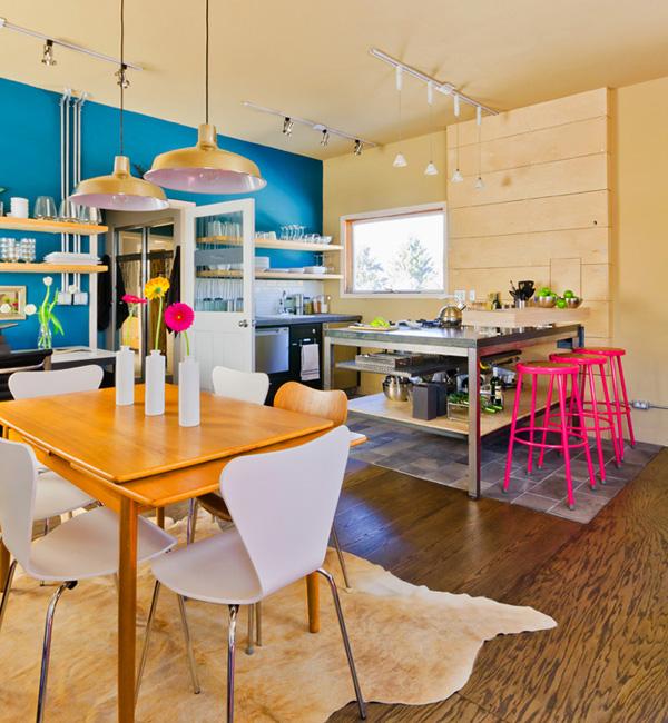 Vibrant Kitchen With Bold Colors Dwellingdecor