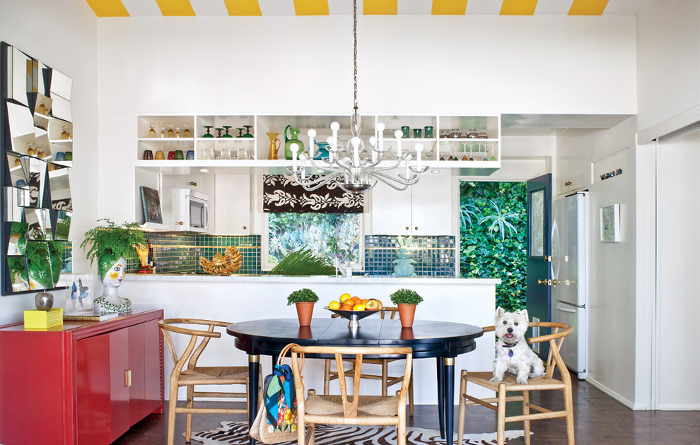 Bold Colorful Eclectic Kitchen Dwellingdecor