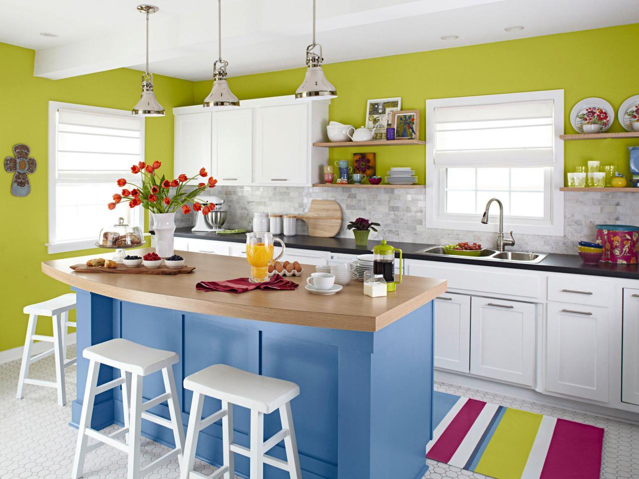 Colorful Bright Small Kitchen Dwellingdecor