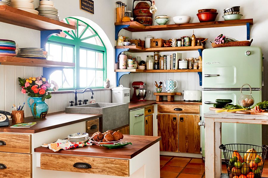 Creative Kitchen Island Idea For The Modern Eclectic Kitchen Dwellingdecor
