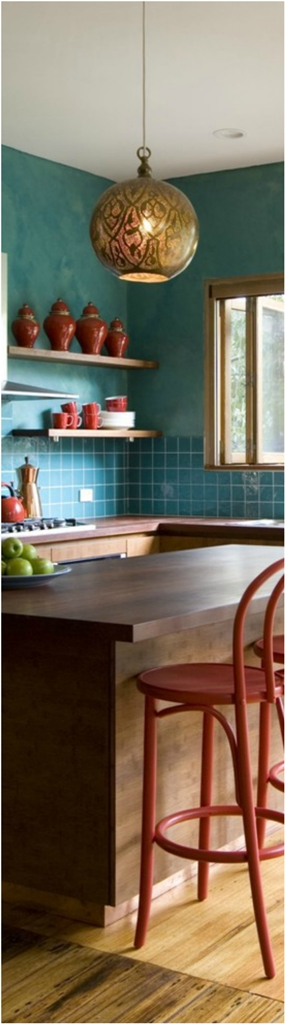 Eclectic Kitchen With Subway Tiles Dwellingdecor