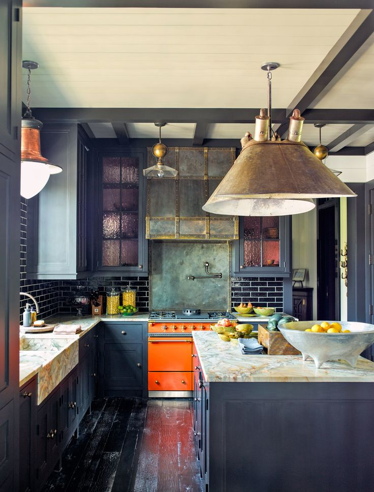 Eclectic kitchen With Backlash Subway Tiles Dwellingdecor