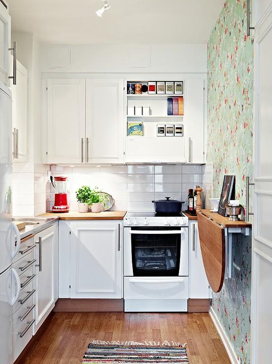 Feminine and Sunny Small Kitchen Dwellingdecor
