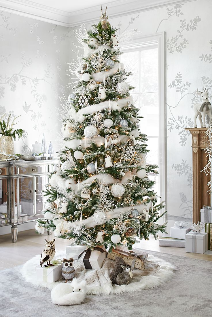 Frosted Silver Christmas Tree Dwellingdecor