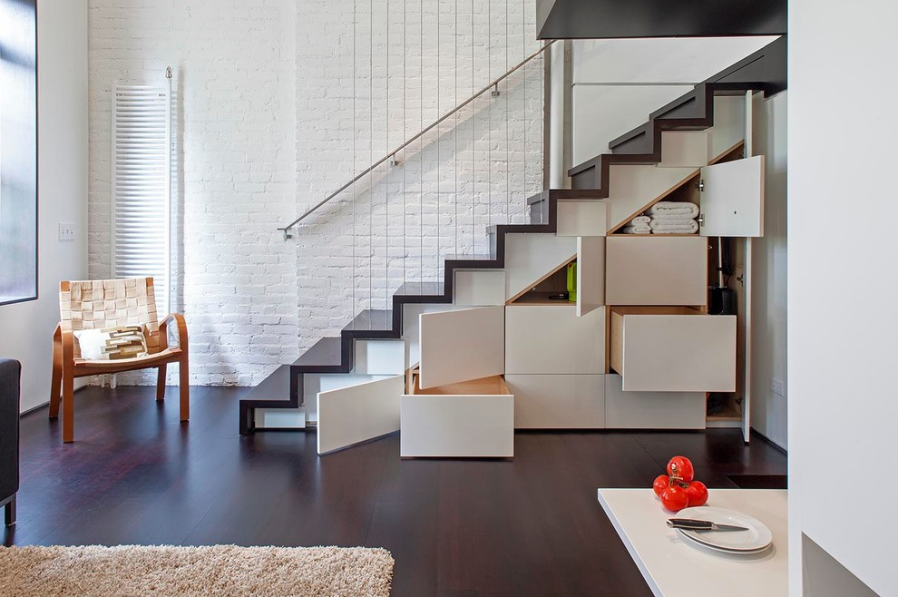 Industrial Staircase With Under-stairs storage