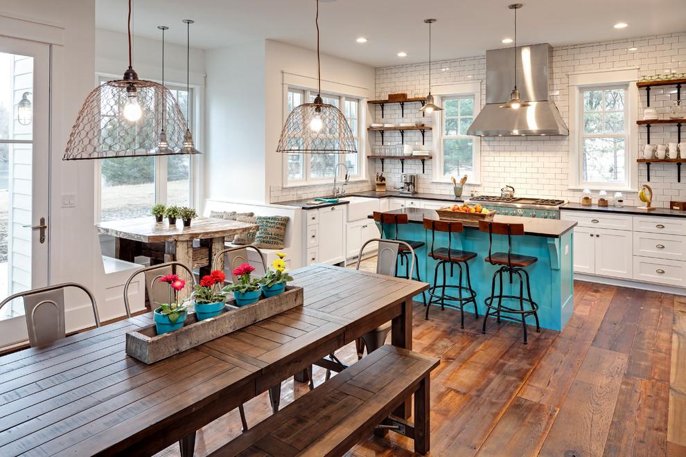 Large Eclectic Open Concept Kitchen Dwellingdecor