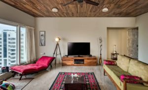 Colorful Contemporary 4 BHK House Conceived in Matt