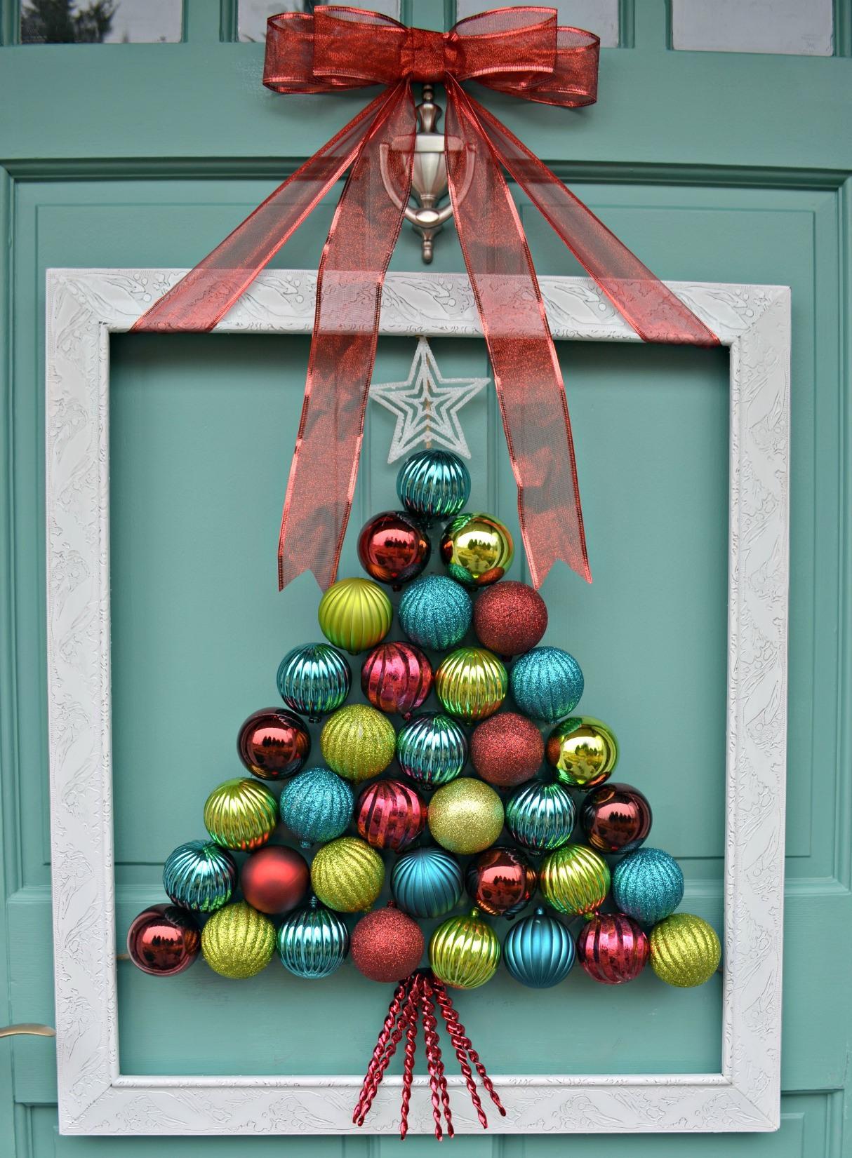 Ornament Wreath front door decoration dwellingdecor