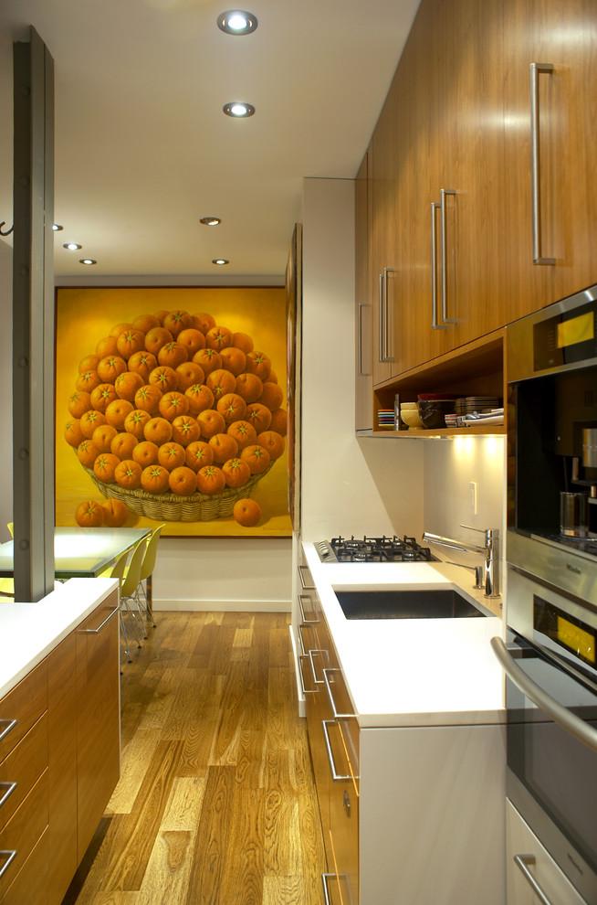 Small Minimalist Galley Kitchen Design Dwellingdecor