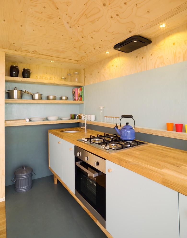 Small Mountain Style Single-wall Kitchen Dwellingdecor