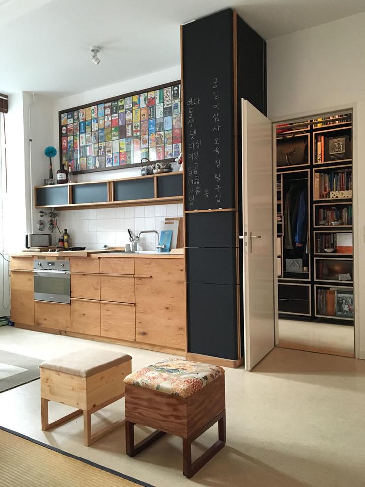 Small Single-wall Open Concept Kitchen Dwellingdecor