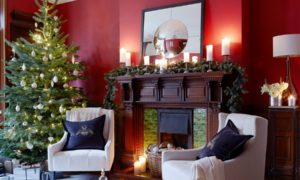 Traditional Living Room Christmas Tree dwellingdecor