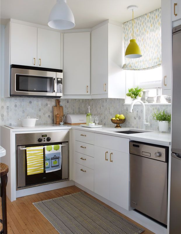 U-shaped White Kitchen With Butcher Block Countertops Dwellingdecor