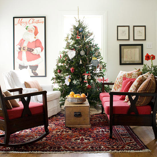 Christmas Living Room Decorations dwellingdecor (14)