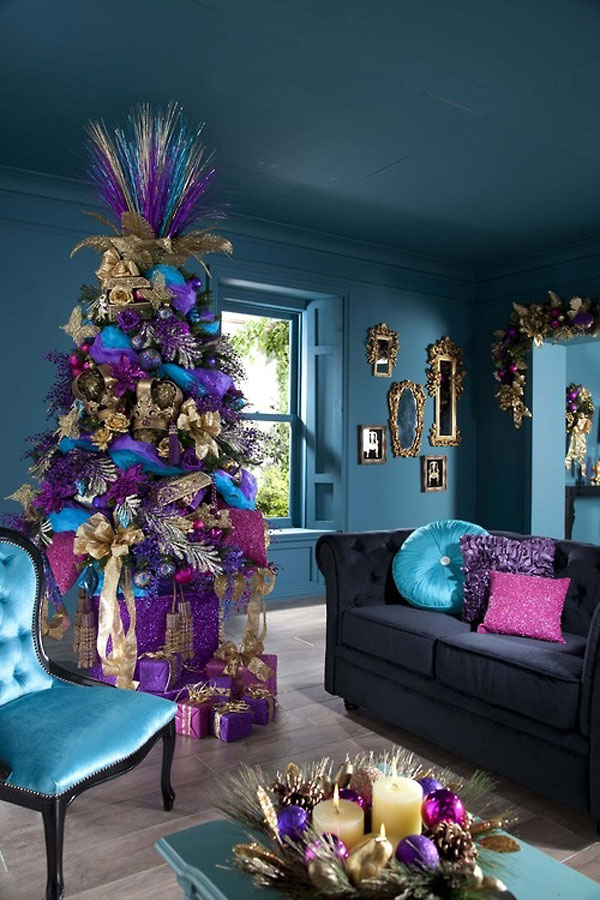 Christmas Living Room Decorations dwellingdecor (8)