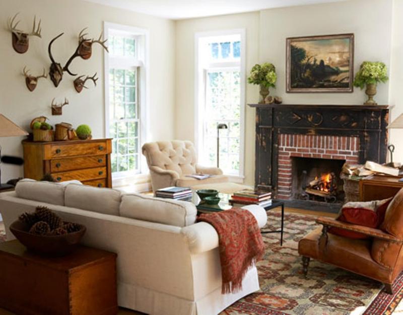 Classy Rustic Living Room dwellingdecor