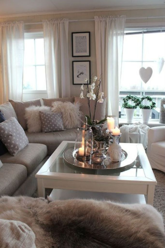 Cozy Rustic Chic Living Room Decor dwellingdecor