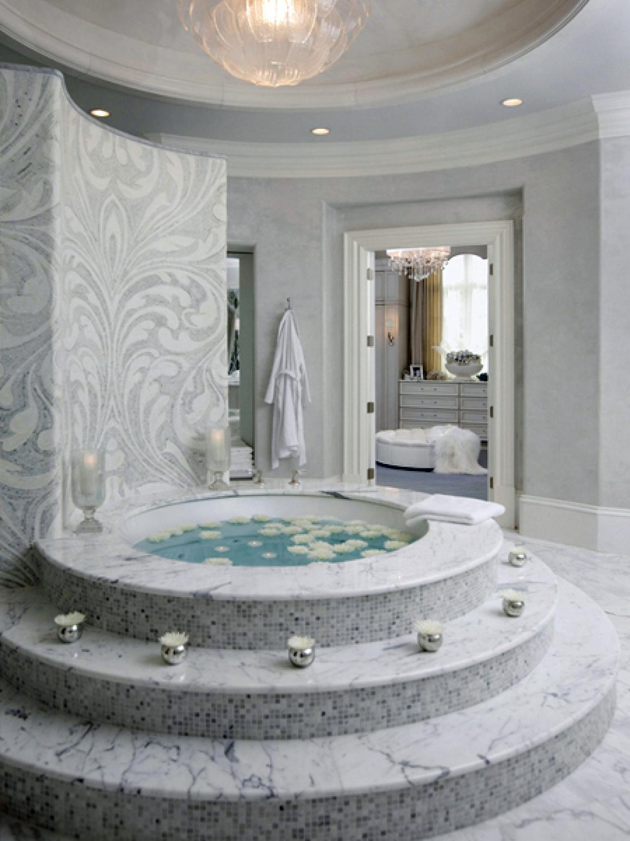 Drop-In Bathtub Design Ideas dwellingdecor