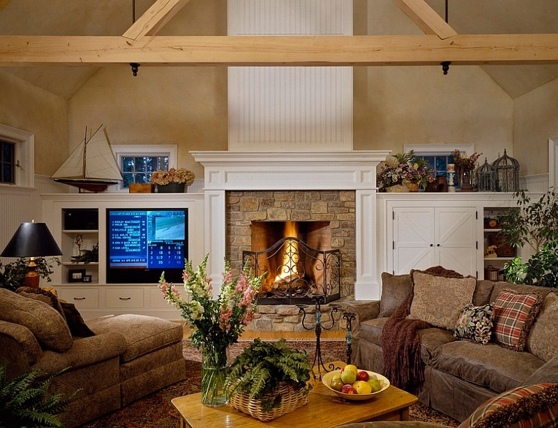 Perfect Living Room For The Chilly Winters dwellingdecor