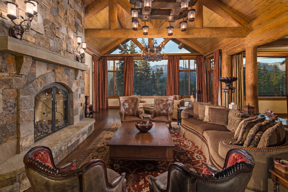 Rustic style living room With Traditional Furniture Dwellingdecor