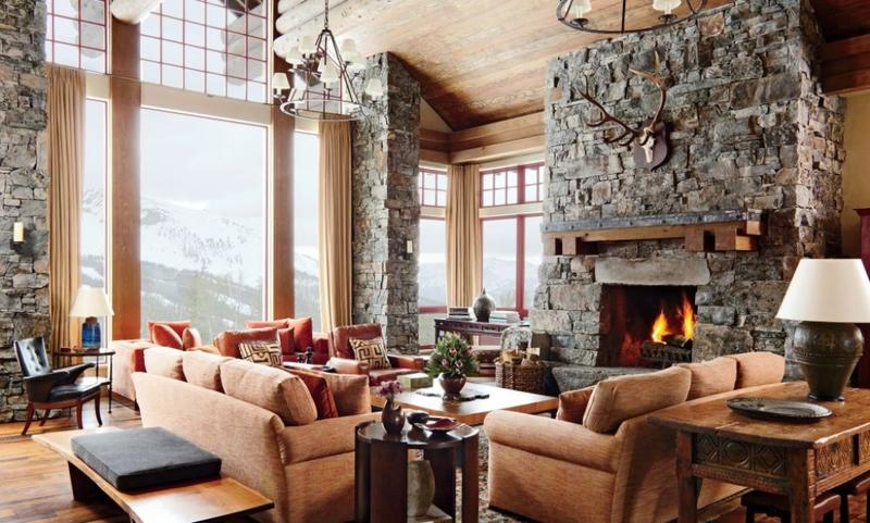 Spacious Rustic Living Room dwellingdecor