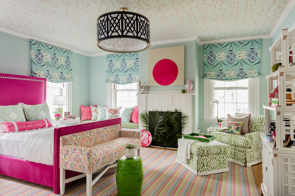 Transitional light wood floor Teen bedroom idea dwellingdecor