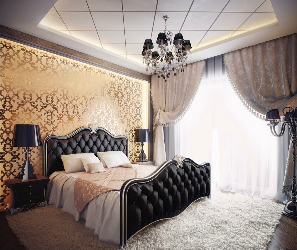 Black & White Tufted Bedroom Design dwellingdecor