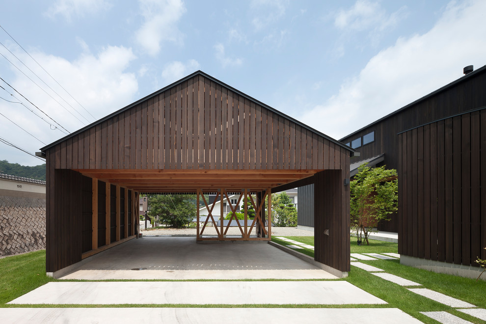Asian Open Concept Garage Dwellingdecor