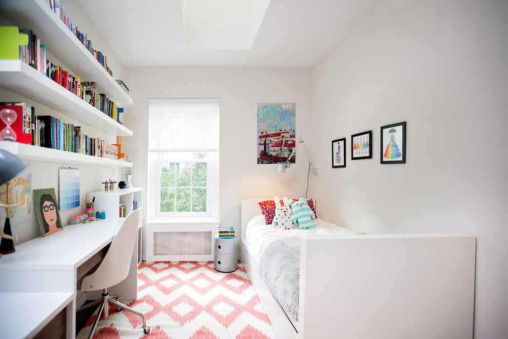 Contemporary Small Bedroom With White Walls Dwellingdecor