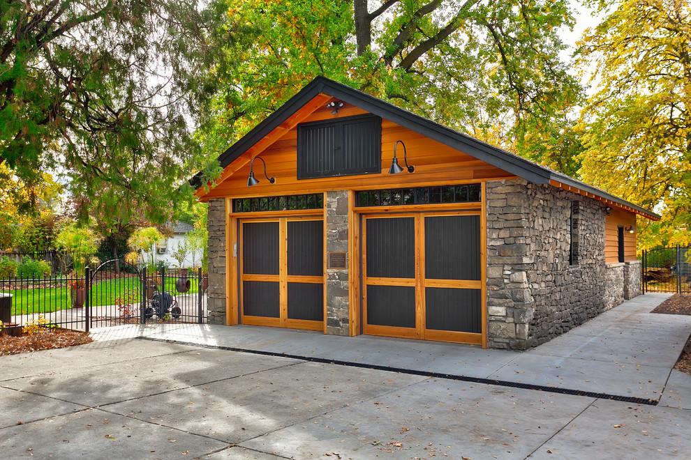 Craftsman Style Garage Design Dwellingdecor