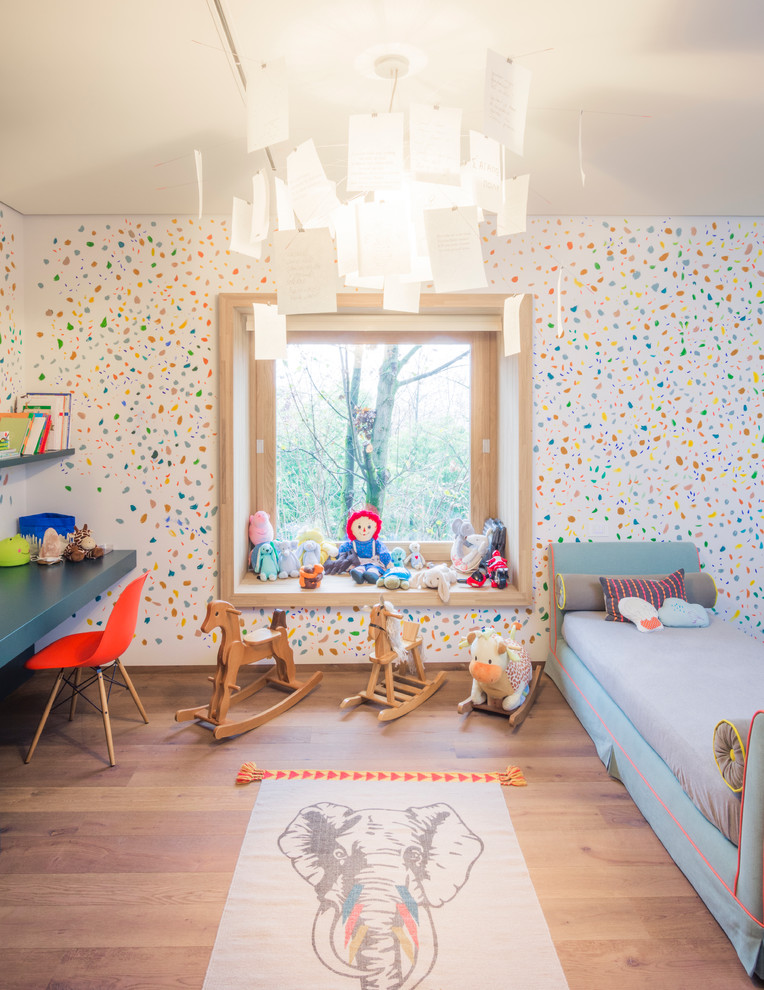Eclectic Boy Wood Floor Bedroom Dwellingdecor
