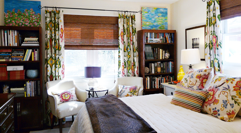Eclectic bedroom Curtains Dwellingdecor