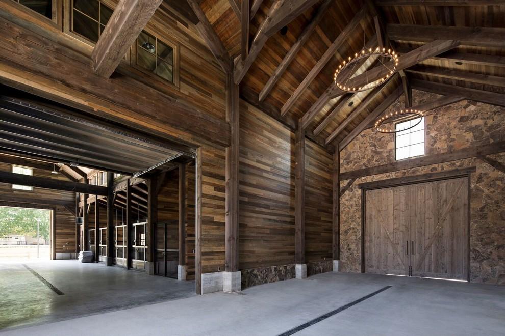 Farmhouse Garage Inside Stud Farm dwellingdecor