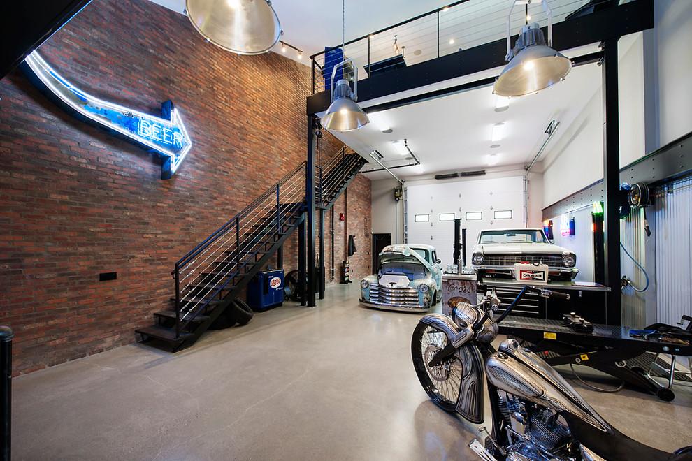 Huge Industrial Three-car Garage Dwellingdecor