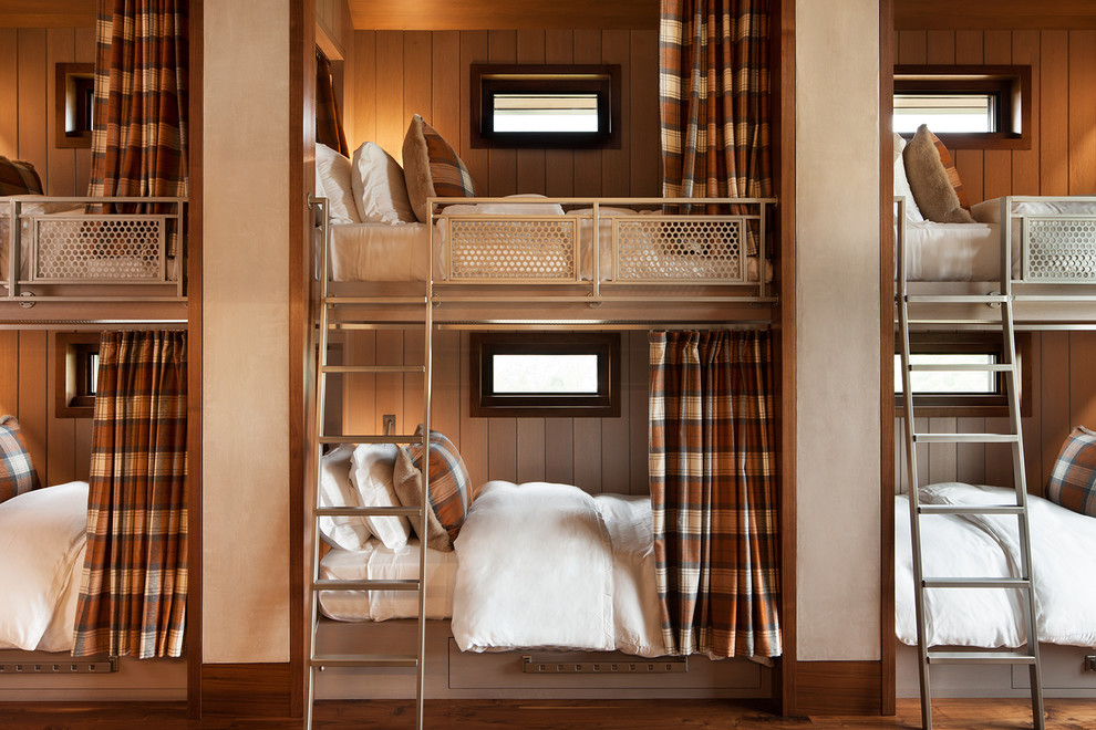 Huge Rustic Bunk Beds With Private Curtains Dwellingdecor