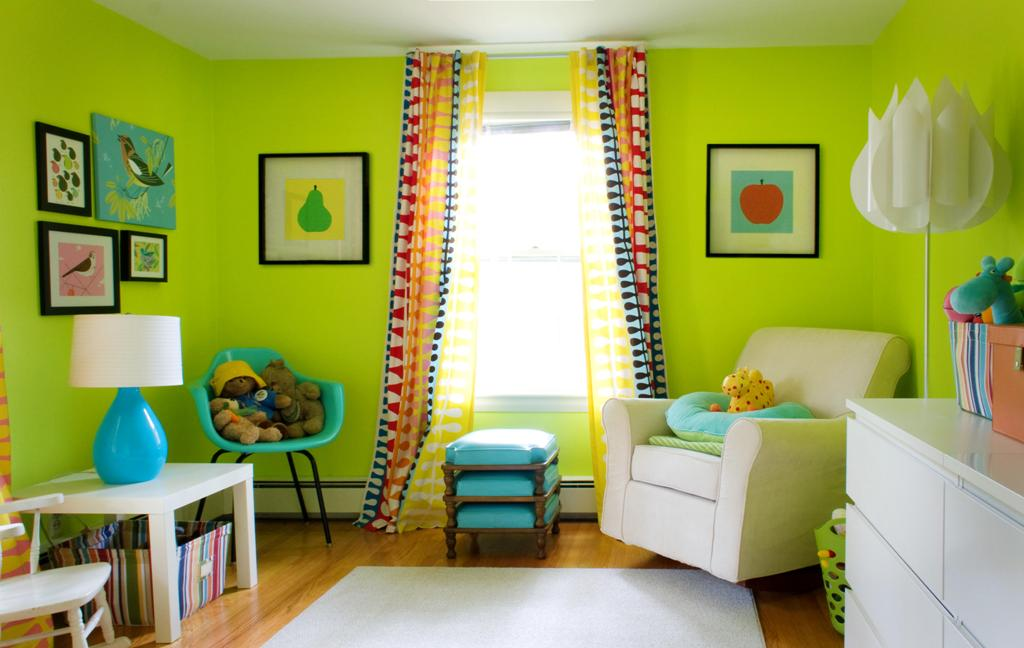 Kids Small Room With Colorful Curtain Dwellingdecor