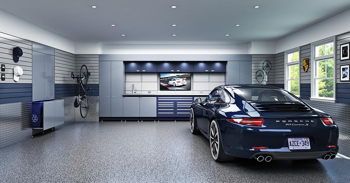 Luxurious Garage With Two Car Parking Dwellingdecor